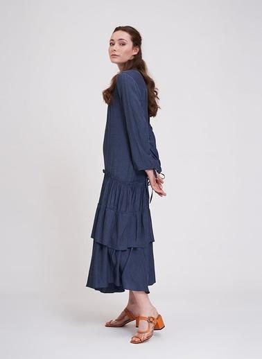 Mizalle Elbise İndigo